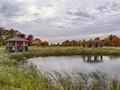 Evan Lloyd Architects - park architectural services - Sherman Municipal Park in Sherman, Illinois - retention pond