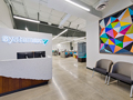 Evan Lloyd Architects office architecture services - Systemax Solutions in Springfield, Illinois - new reception area.