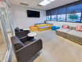Evan Lloyd Architects office architecture services - Systemax Solutions in Springfield, Illinois - lounge area.