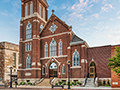 Evan Lloyd Architects - Trinity Evangelical Lutheran Church in Springfield, Illinois - religious architectural services - building entrance.