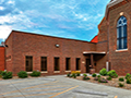 Evan Lloyd Architects - Trinity Evangelical Lutheran Church in Springfield, Illinois - religious architectural services - rear parking area.