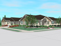Evan Lloyd Architects - Villas at Pine Creek in Springfield, Illinois - artist's rendering of the multi-unit dwellings.