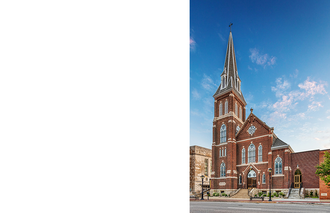 Evan Lloyd Architects provided religious architectural services for Trinity Evangelical Lutheran Church in Springfield, Illinois.